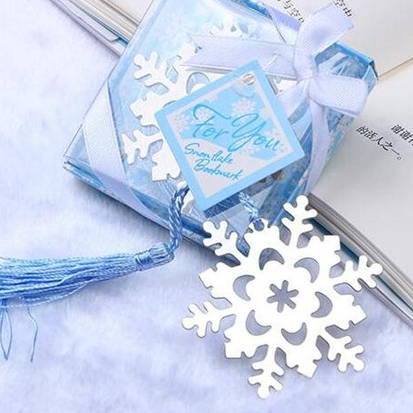 50 PCS Snowflake Bookmark Wedding Gifts & Favors