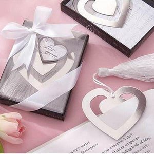 50 PCS Heart Bookmark Wedding Gifts & Favors