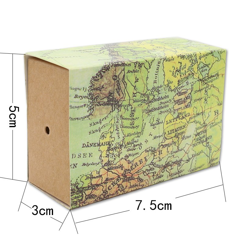 50 pcs world map gift favor box for wedding candy includes hemp 50 pcs world map gift favor box for wedding candy includes hemp string gumiabroncs Gallery