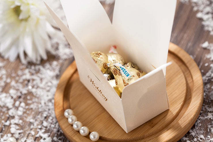 50 PCS Fairytale Wedding Candy Gift Box for Wedding Guest Favors