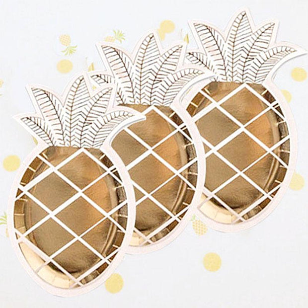80 PCS Pineapple Paper Plates for Small Bites