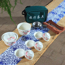 Portable Chinese Wedding Tea Ceremony Set with Bag for Easy Transport