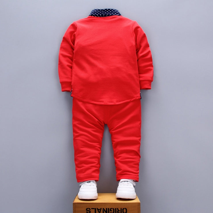 Red Ring Bearer Comfy Little Boy Suit for Wedding 6M - 4T