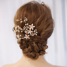 Handmade Pearl & Rhinestone Flower Hairpiece Ornament