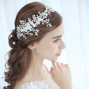 Handmade Floral Headband with Pearls & Rhinestones