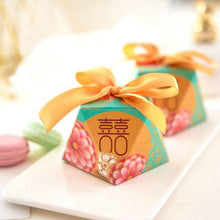 100 PCS Modern Chinese Wedding Candy Boxes With Double Happiness Sign