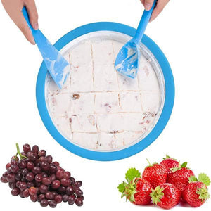 Instant Ice Cream Maker Pan - PicksByJP Offers Free Shipping - Yes Free Shipping.
