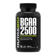 Nutrabio BCAA 2500 - 250 Vegetable Capsules - Branched Chain Amino Acids
