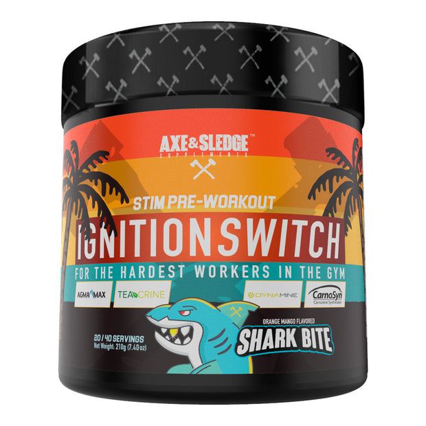Axe & Sledge Supplements - IGNITION SWITCH 200gr, 20/40serv Stimulant Pre-Workout