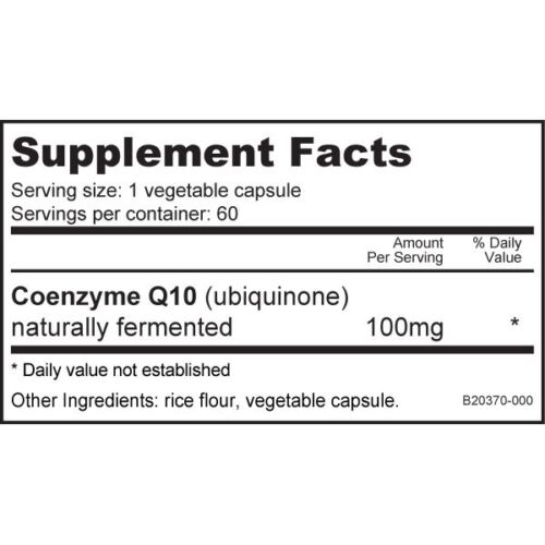NUTRABIO - CoQ10 100mg 60caps - Powerful Antioxidant - Healthy Heart Function