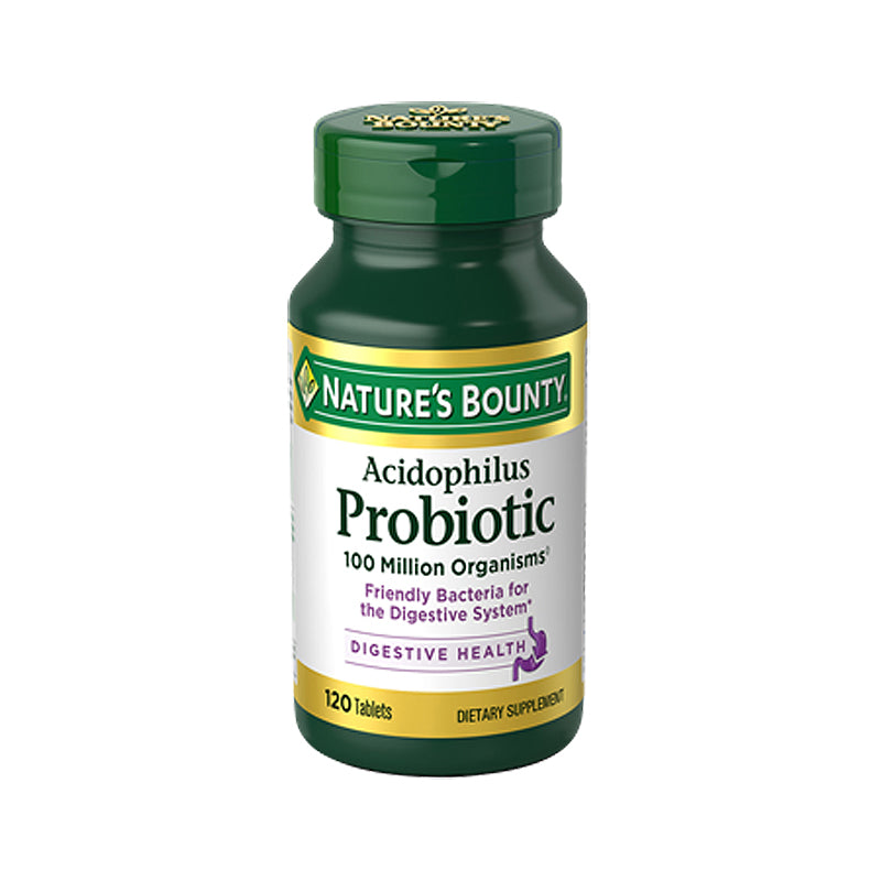 Nature's Bounty ACIDOPHILUS PROBIOTIC - 120tabs. Friendly bacteria for the digestive system