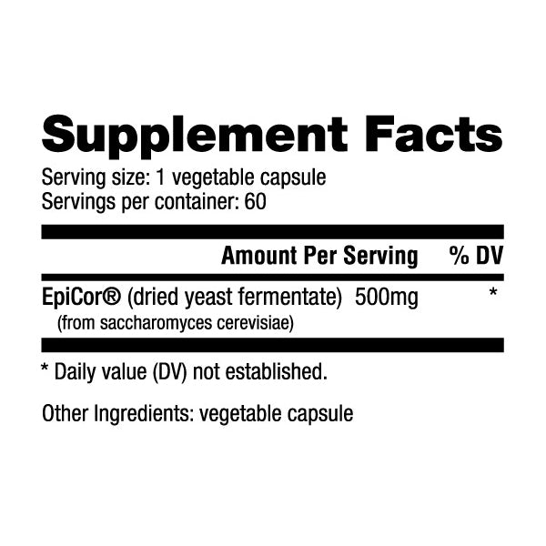 Nutrabio EPICOR 500mg 60 Caps - Supports Immune System Health