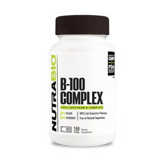 Nutrabio Vitamin B-100 Complex - 150 Vegetable Capsules