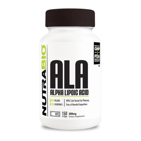 Nutrabio Alpha Lipoic Acid 300mg - 150 Vegetable Capsules