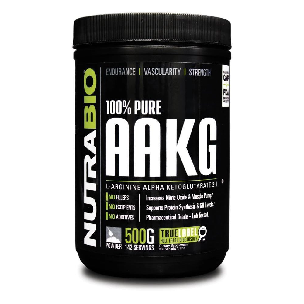 Nutrabio Arginine AKG Powder - 500 Grams