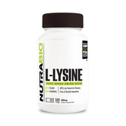 Nutrabio Lysine (500mg) - 500 Vegetable Capsules