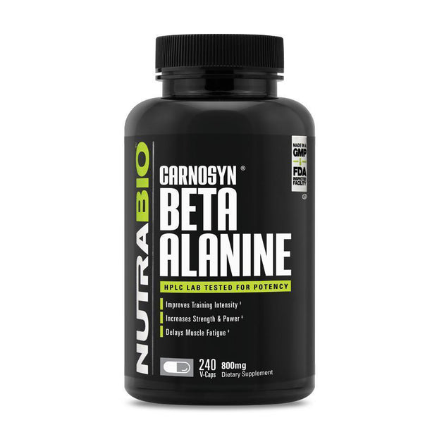 Nutrabio Beta Alanine (CarnoSyn) (800mg) - 240 Vegetable Capsules