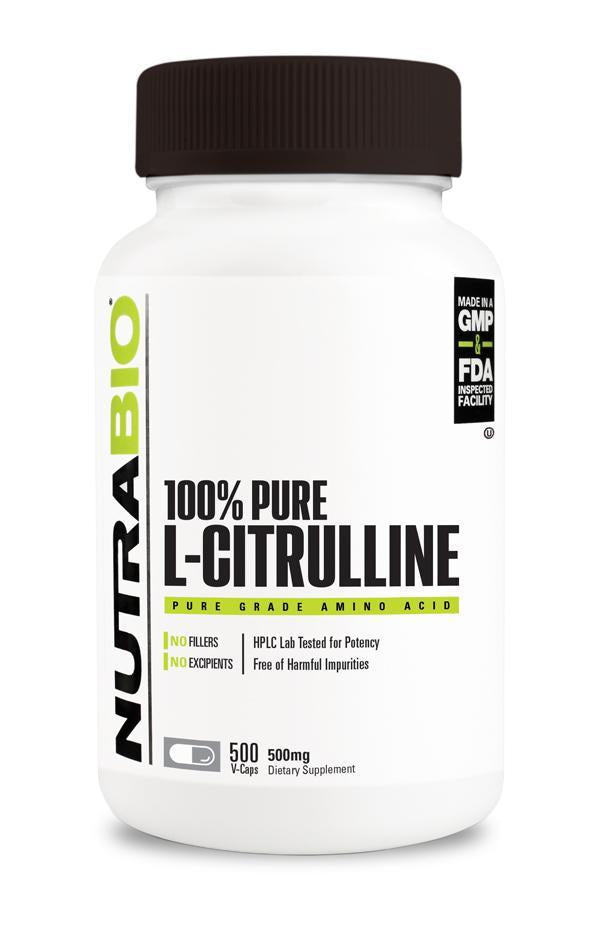 Nutrabio Citrulline (500 mg) - 500 Vegetable Capsules