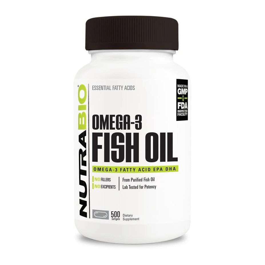 Nutrabio Omega 3 Fish Oil - 500 Softgels