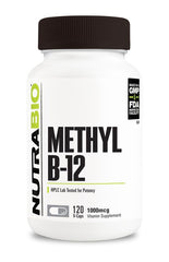 Nutrabio Methyl B-12 (1000mcg) - 120 Vegetable Capsules