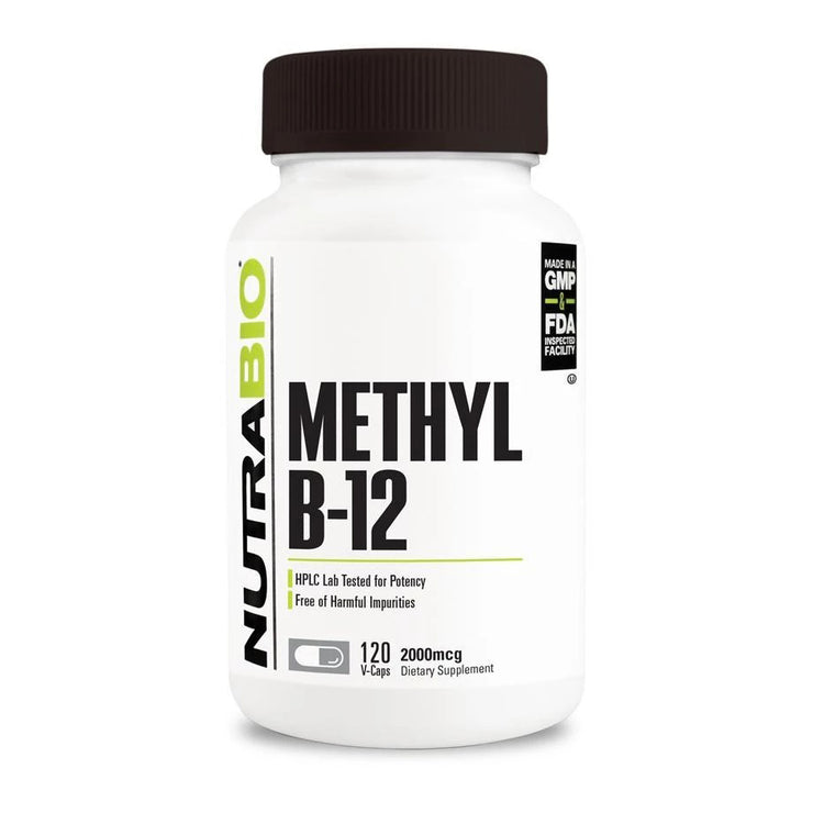 Nutrabio Methyl B-12 (2000mcg) - 120 Vegetable Capsules