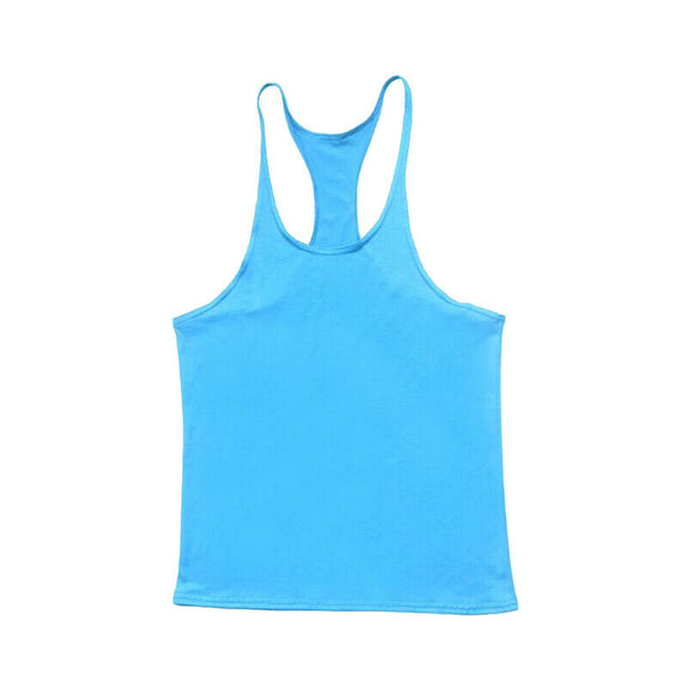 Gym Singlets Men Tank Top Bodybuilding & Fitness Stringer Thin Strap Style 1221