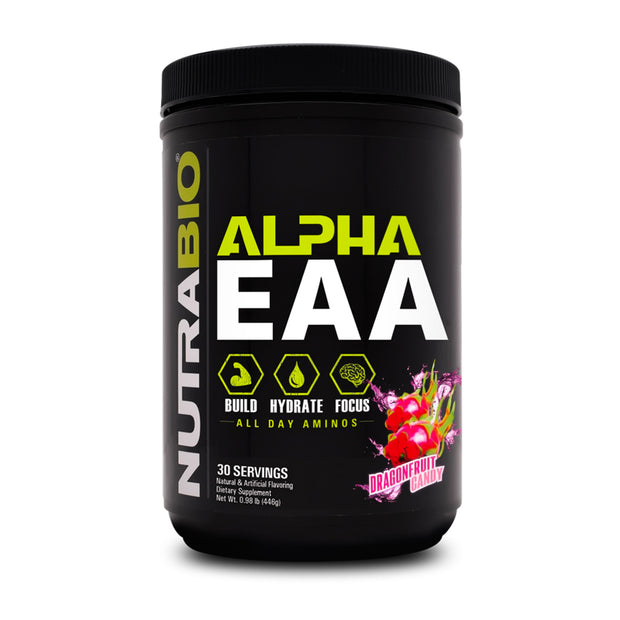 NUTRABIO - ALPHA EAA 30serv - All Day Aminos -Build-Hydrate-Focus