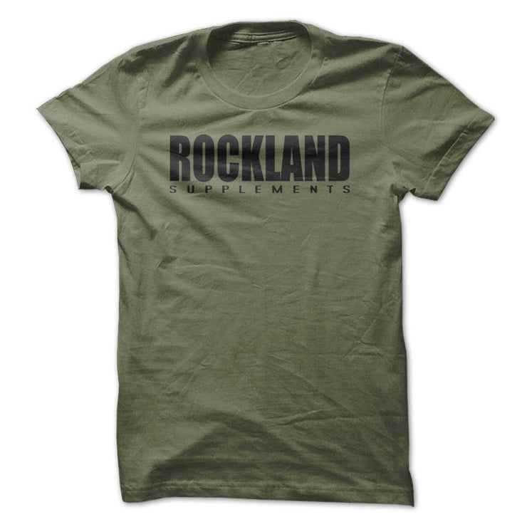 ROCKLAND SUPPLEMENTS Original Gym T-Shirt Workout Fitness Weightlifting F910