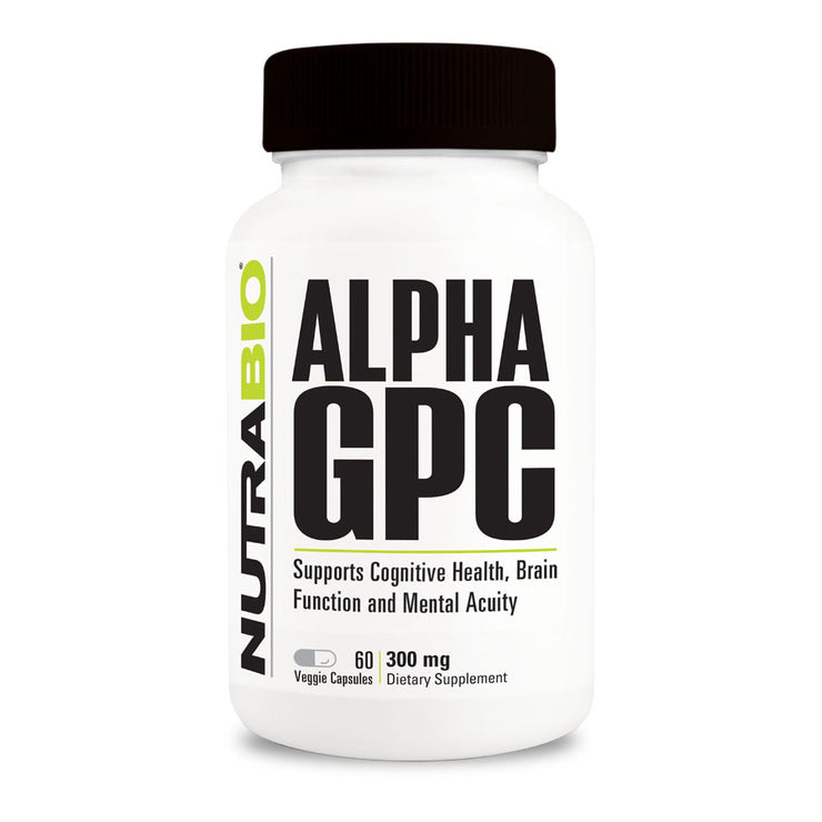 Nutrabio ALPHA GPC Supports Cognitive Health, Brain Function and Mental Acuity -- 60 capsules