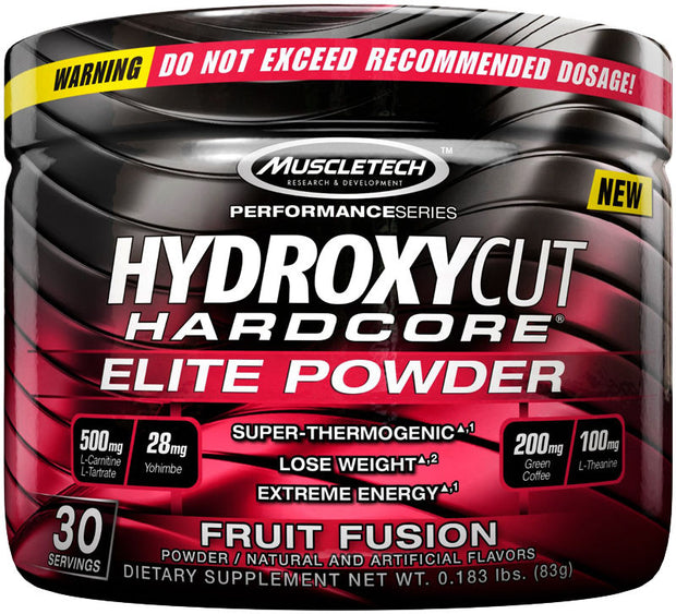 MuscleTech HYDROXYCUT HARDCORE Super Thermogenic Weight Loss Support Powder -- 30servings