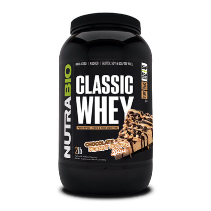 Nutrabio CLASSIC WHEY PROTEIN - 100% Whey Protein Concentrate (WPC80) -- 2 Lbs