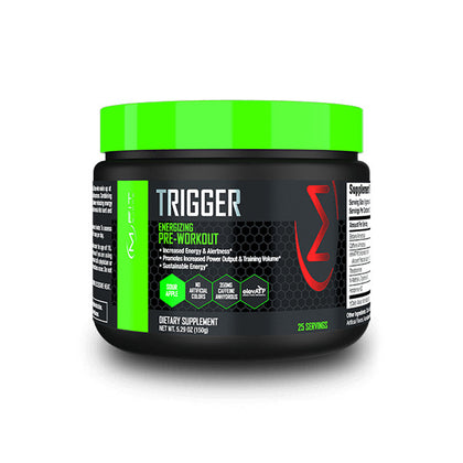 MFit Supps TRIGGER Energizing Pre-Workout Powder -- 25 Servings