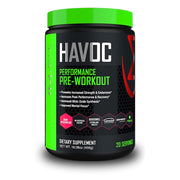 MFit Supps HAVOC Performance Pre-Workout Powder -- 20 Servings