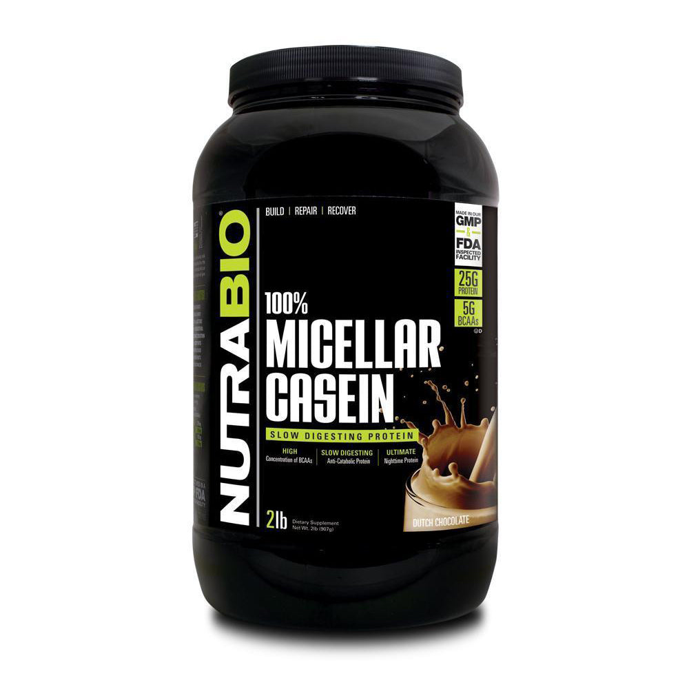 Nutrabio Micellar Casein - 2 Pounds Slow Digesting Anti-Catabolic Protein