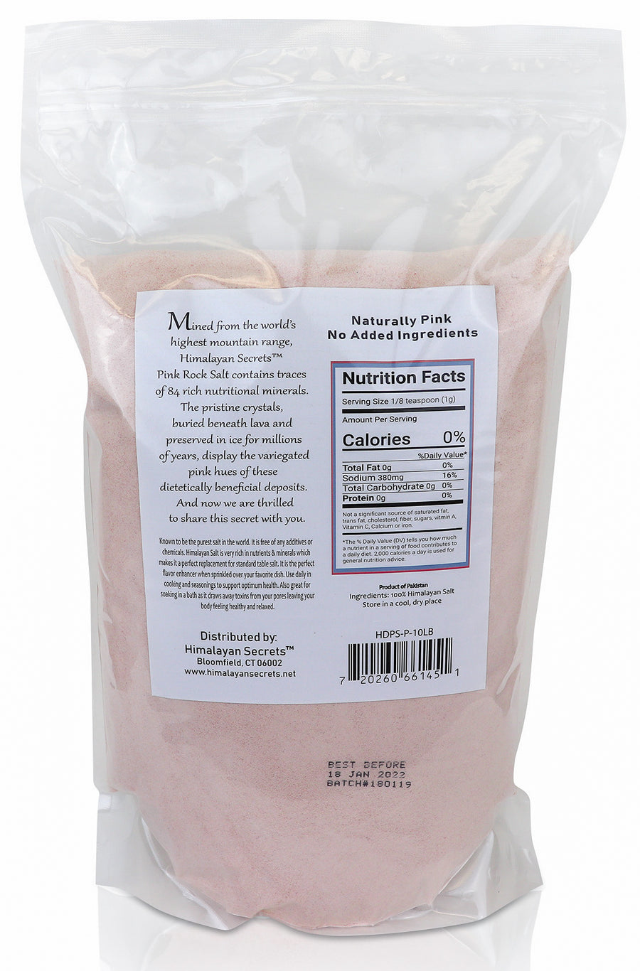 10 LB Himalayan Pink Salt Powder Grain (0.1-0.3mm) - Himalayan Secrets™