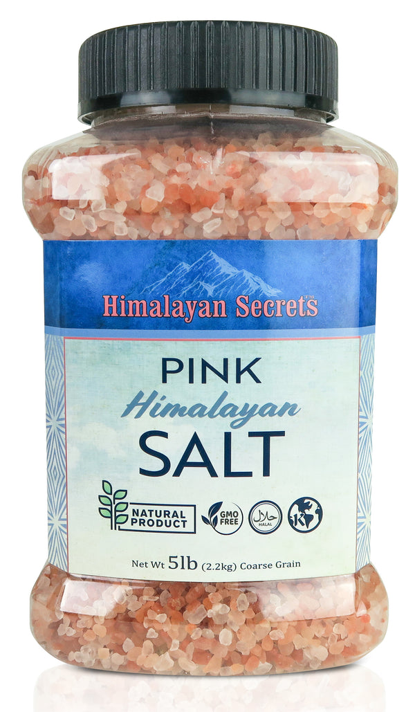 5 LB Himalayan Pink Salt Coarse Jar (2-3mm) - Himalayan Secrets™
