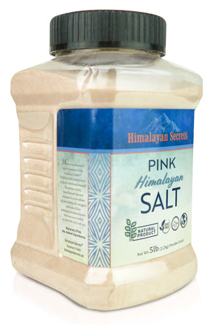 5 LB Himalayan Pink Salt Powder Jar (0.1-0.3mm) - Himalayan Secrets™
