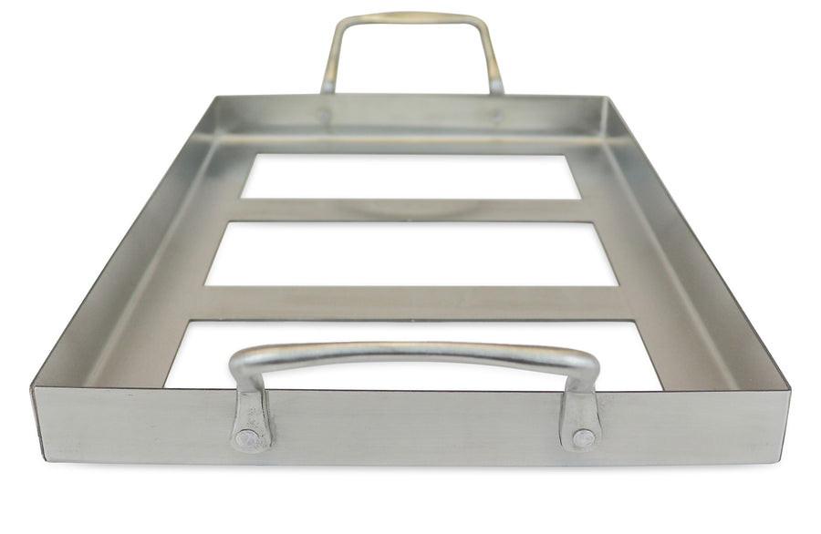 "Himalayan Salt Cooking Block Stainless Steel Tray for 12"" x 8"" Blocks - Himalayan Secrets™"
