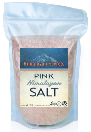 2 LB Himalayan Pink Salt Powder Grain (0.1-0.3mm) - Himalayan Secrets™