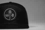 Hand Crafted Christian Hats - The Black on Black Symbol Hat