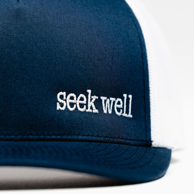 Hand crafted christian hats - Seek Well Trucker