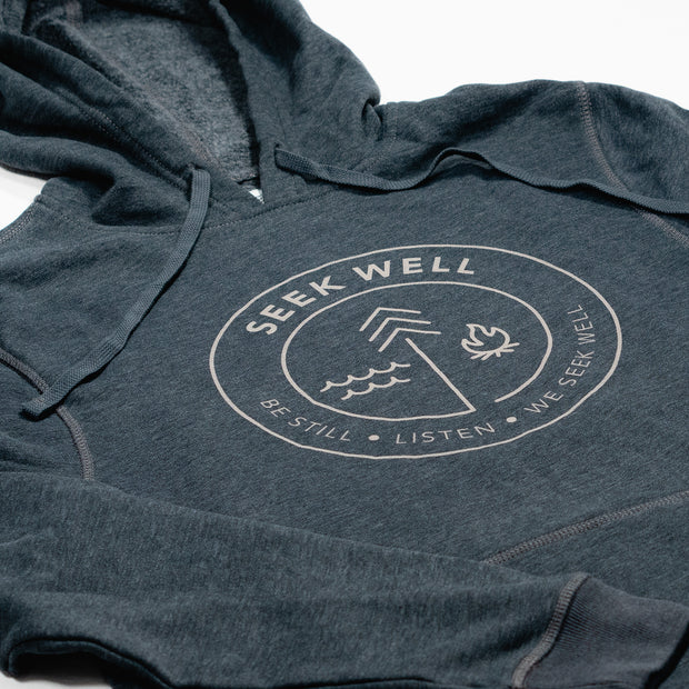 Hand Crafted Christian Apparel - The Badge Hoodie in Grey