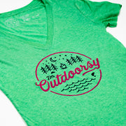 Hand Crafted Christian T-shirts- I'm Outdoorsy in Green