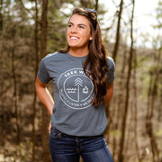 Hand Crafted Christian T-shirts- The Badge T-shirt in Indigo