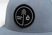 Hand Crafted Christian Hats - The Symbol Hat in Heather Grey