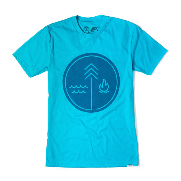 Hand crafted christian apparel - Symbol Tee in Tahiti Blue
