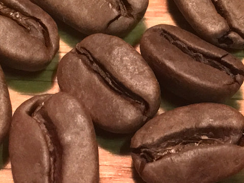 Our roasted seasonal Decaf up close