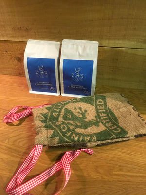 Two Pack of Coffee & Hessian Bag Gift Set