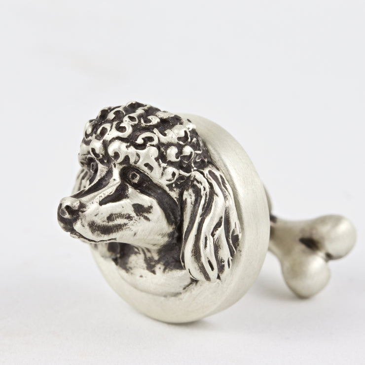 Poodle pair of Dog Cufflinks Jewelry