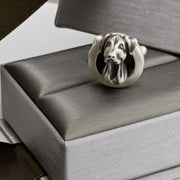 Doberman Natural Ears pair of Cufflinks